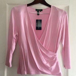 Ralph Lauren blouse, NWT, L, pink, soft material.